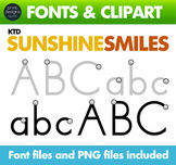 Letter Tracing Font • Learn to Write Font • KTD Sunshine Smiles