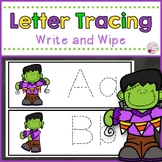 Letter Tracing Cards-Frankenstein Themed