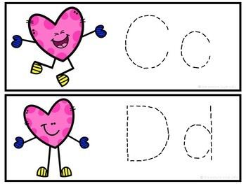 Letter Tracing Cards-Hearts