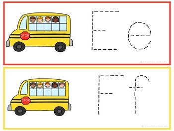 Letter Tracing Cards-Kids on the Bus