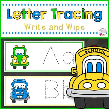 Letter Tracing Cards-Kooky Cars