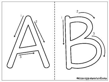 Letter Tracing Mats - Play-Doh Mats
