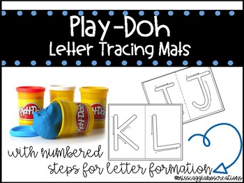 Letter Tracing Mats - Play-Doh Mats