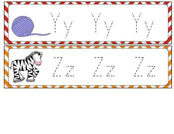 Letter Tracing Mini Flip Book