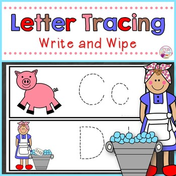 Letter Tracing Cards-Miss Wishy Washy