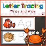 Letter Tracing Cards-Ocean Themed