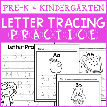 Letter Tracing Practice Pages (Pre-K or Kindergarten ...