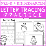 Letter Tracing Practice Pages (Pre-K or Kindergarten Handw
