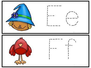 Letter Tracing-Scarecrows
