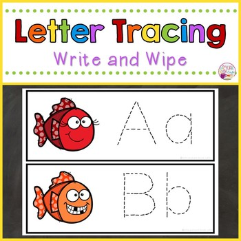 Letter Tracing-Smiley Fish