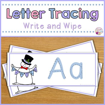 Letter Tracing Cards-Winter