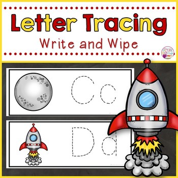Letter Tracing Cards-Space Themed