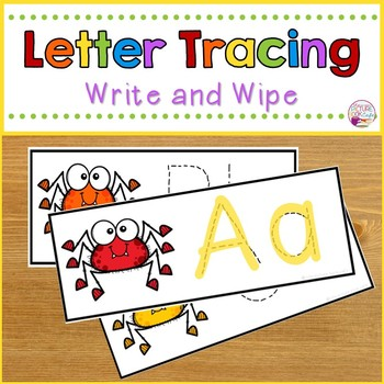 Letter Tracing Cards-Spider Themed