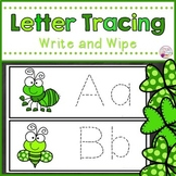 Letter Tracing Cards-St. Patrick's Day Bugs