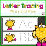 Letter Tracing Cards-Sunny Themed