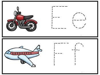 Letter Tracing Cards-Transportation