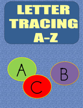 Letter Tracing Upper Case Letters A-Z