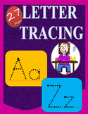 Letter Tracing Worksheets Lined Upper and Lower Letters Aa-Zz. 27 pages