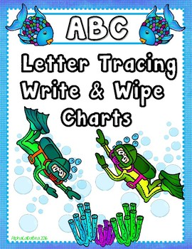 Letter Tracing Write and Wipe Charts