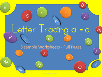 Letter Tracing a-c Lower Case Sample