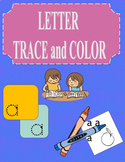 Letter Tracing and Color Lower  Case with Pictures a-z 26 pages
