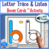 Letter Tracing and Listening Boom Card Activity