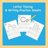 Letter Tracing and Writing Practice Sheets