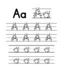 Letter Tracing with Arrows (Handwriting Practice Sheets)