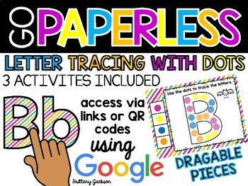 Letter Tracing with Dots using Google Slides