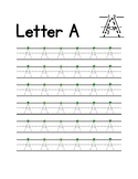 Letter Tracing with Starting Dot Practice Sheets (Handwrit