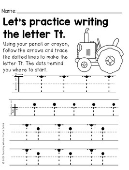 Letter Tt Activity Pack