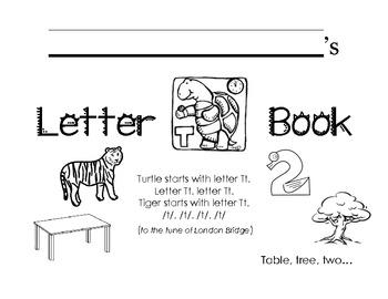 Letter Tt Activity Packet