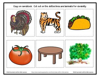 Letter Tt Beginning Sound Picture Web and Printables