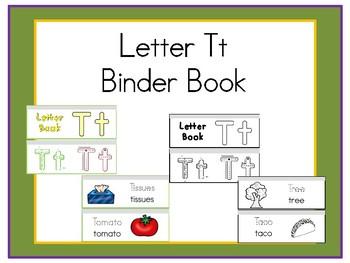 Letter Tt Binder Book