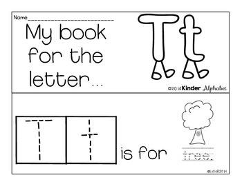 Letter Tt Booklet- Predictable Sentences