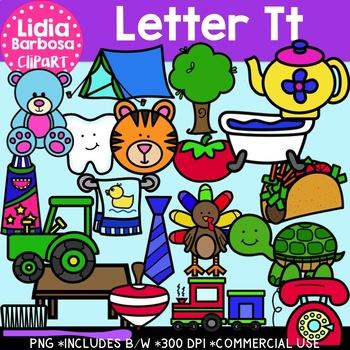 Letter Tt Digital Clipart