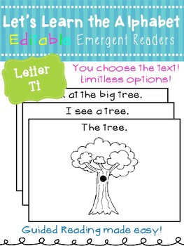 Letter Tt *Editable* Alphabet Emergent Reader