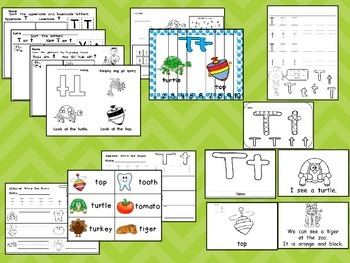 Letter Tt Mega Pack- Kindergarten Alphabet- Handwriting, Little Books, and MORE!