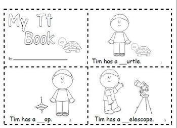 Letter Tt Phonics and Writing Pack