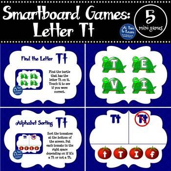 Letter Tt Smartboard Games (5 mini games) (Smartboard/Promethean Board)