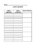 Letter Tub Center
