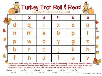 Letter Turkey Trot Roll & Read