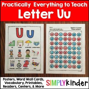 Letter U | Alphabet Printables and Centers