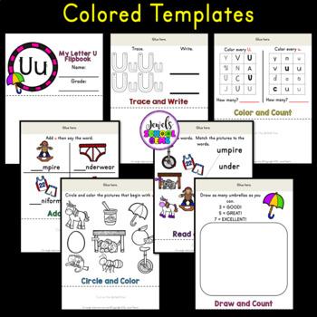 Letter U Alphabet Flip Book (Alphabet Interactive Notebook Activities)