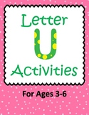 Letter U Activities- 46 Pages! {Common Core}