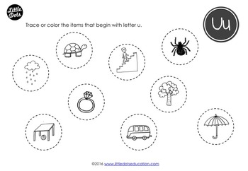 Letter U Activities and Worksheets