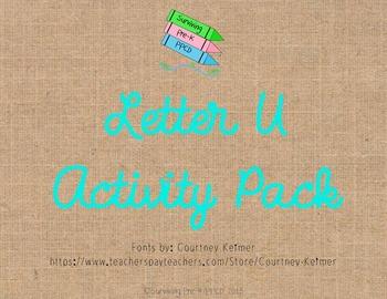 Letter U Activity Pack