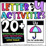 Letter U Alphabet Activities   Recognition, Formation and Sounds