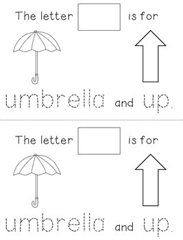 Letter U: Alphabet Activity Book