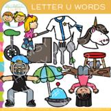 Letter U Clip Art {Alphabet Beginning Sounds Clip Art}